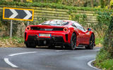 Ferrari 488 Pista 2018 UK first drive review - hero rear