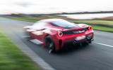 Ferrari 488 Pista 2018 UK first drive review - otr rear