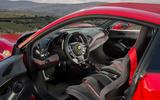 Ferrari 488 Pista 2018 UK first drive review - cabin