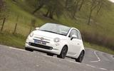 Fiat 500 road test - front