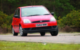 2004 Ford Fiesta cornering - front