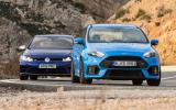 Ford Focus RS versus Volkswagen Golf R