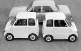 Two Ford Comutas and a Ford Cortina