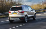 Ford Ecosport 1.0 Ecoboost 125 Zetec rear on the road
