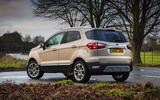 Ford Ecosport 1.0 Ecoboost 125 Zetec rear quarter