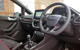 Ford Fiesta ST-Line 2018 long-term review interior angle