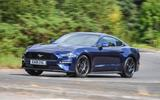 Ford Mustang four-cylinder 2018 UK first drive review front cornering
