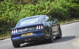 Ford Mustang four-cylinder 2018 UK first drive review rear cornering