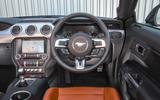 Ford Mustang four-cylinder 2018 UK first drive review dashboard