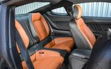 Ford Mustang four-cylinder 2018 UK first drive review rear seats