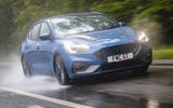 Ford Focus ST 2019 UK first drive review - tracking wet