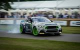 Ford Mustang sideways