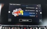 Alpine A110 engine information screen