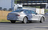 Genesis G80 spy images - on the road rear