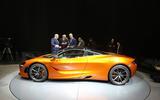 McLaren 720s showroom side