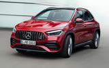 2020 Mercedes GLA reveal - cornering front