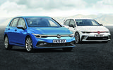 2020 Volkswagen Golf and Golf GTI, rendered by Autocar