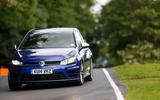 VW Golf R downhill