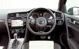 VW Golf R steering wheel