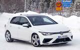 2020 Volkswagen Golf R prototype - front