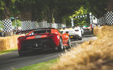 Ferrari heading down the hill