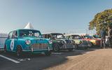 Austin Mini Touring Cars at Goodwood