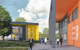 Gordon Murray Group HQ render - Piazza