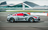 Driving the remote-controlled Nissan GT-R/C