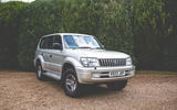 2000 Toyota Land Cruiser front 3/4