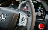 Steering wheel detail Honda Civic diesel