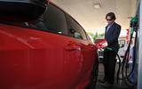 Honda Civic refuelling