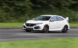 Honda Civic Type R on the track