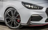 Hyundai i30 N 2018 UK review front end
