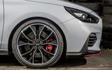 Hyundai i30 N 2018 UK review alloy wheels