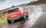 Hyundai Kona rear three-quarters motion