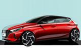 Hyundai i20 official sketch teaser - front
