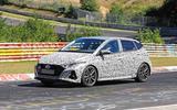New Hyundai i20 N spyshot side 3/4