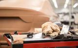 Clay modellers shape a secret car