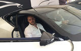 Aston Martin DB11 V8 - first ride up the Goodwood hillclimb