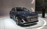 Audi E-tron Sportback at LA motor show 2019 - front