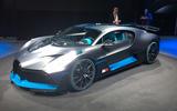 Bugatti Divo European motor show debut Paris 2018