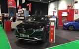 MG ZS EV trade show - front
