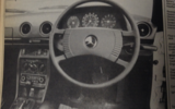 1977 Mercedes-Benz 230C driving position