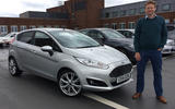 Tom with his new Ford Fiesta