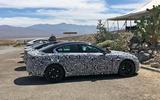 Jaguar XE 2019 spies side on