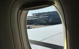 Ground crew waving plane goodbye Tokyo airport