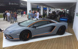 LAMBORGHINI AVENTADOR S: Grey and orange colour scheme is unique