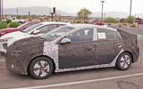 Hyundai Ioniq facelift spyshots side