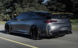 Infiniti Project Black S Paris motor show reveal hero rear