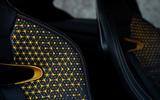 Infiniti Project Black S Paris motor show reveal seat pattern